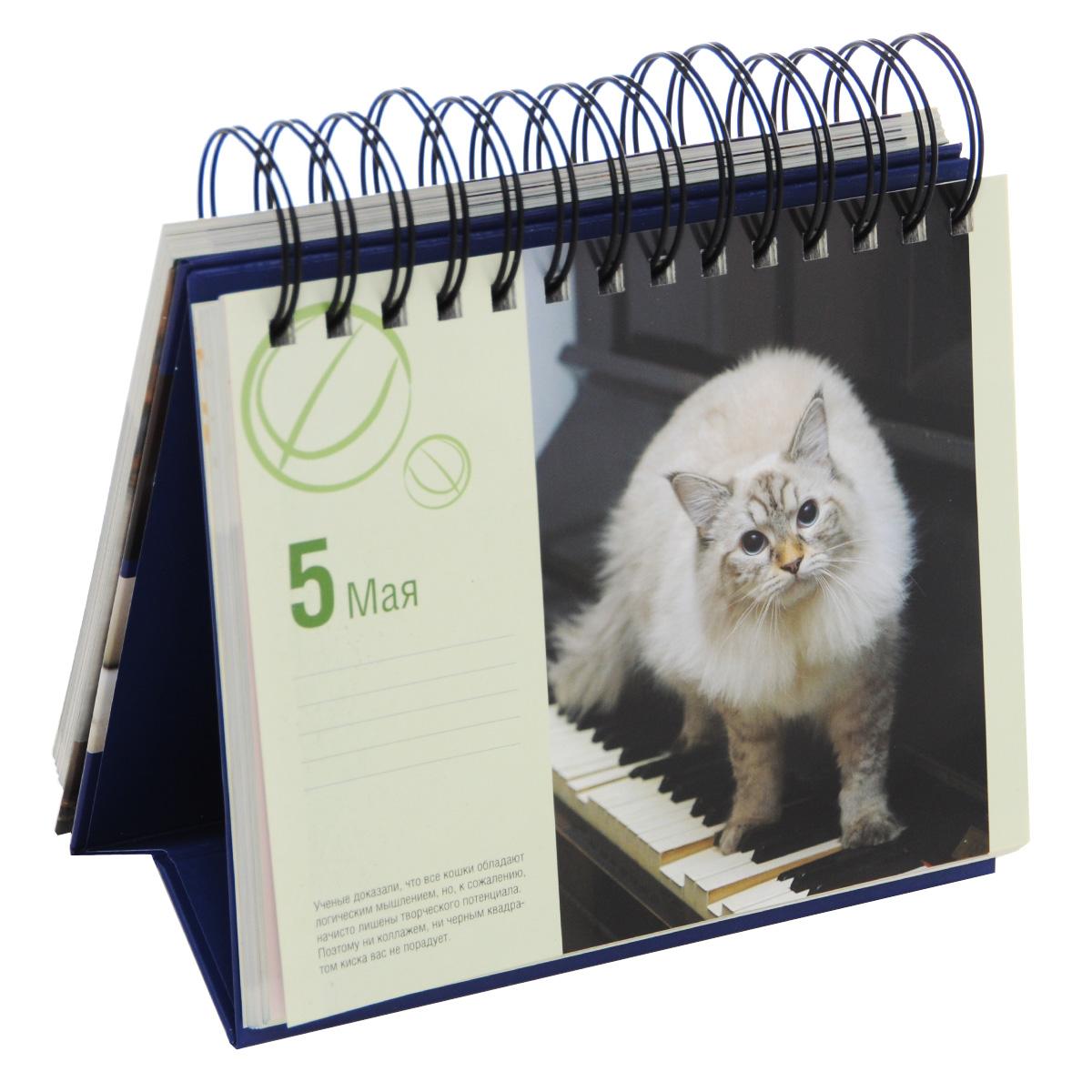 Книга календарь настольный на спирали котики е е гюнтер -