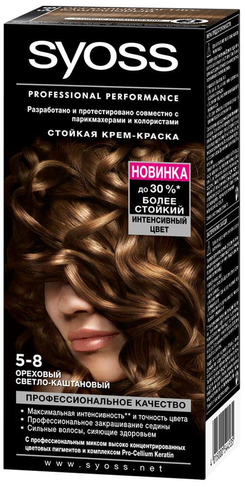 Цвет краски для волос ореховый