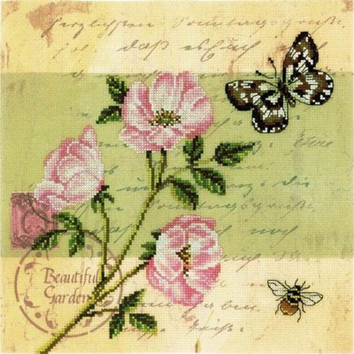 Вышивка крестом наборы старинные открытки