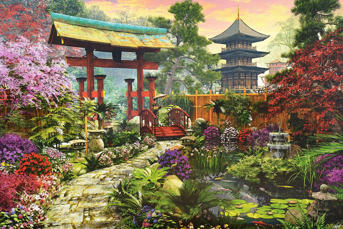 продаже изображение японского сада на картинке нем