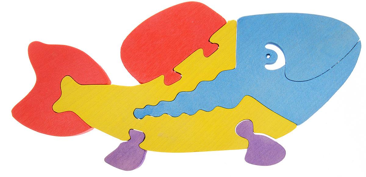 Картинка пазл для детей рыбы